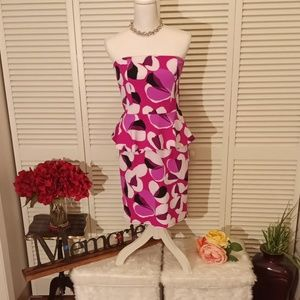 Worthington pink, black and white party dress.